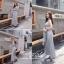 เสื้อผ้าเกาหลี พร้อมส่ง เดรสยาวกับเสื้อคลุมสีดำ thumbnail 4