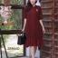 ชุดเดรสเกาหลี พร้อมส่ง Dress ผ้าจอเจียเนื้อดี thumbnail 6