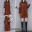 เดรสเกาหลี พร้อมส่ง เสื้อกันหนาว เดรสตัวยาว thumbnail 5