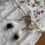 พร้อมส่ง เดรสผ้าลูกไม้สีขาวปักลายดอกไม้ thumbnail 6