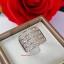 พร้อมส่ง แหวนเพชร princess cut 4 แถว thumbnail 2