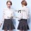 พร้อมส่ง เสื้อแฟชั่น เสื้อเกาหลี เชิ้ตขาวผ้าตาข่าย thumbnail 13
