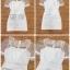 เดรสเกาหลี พร้อมส่ง เดรส ระบายสองชั้นด้วยผ้าแก้วแขนตุ๊กตา thumbnail 9
