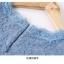 เดรสเกาหลี พร้อมส่ง เดรสผ้าลูกไม้เนื้อดี สีฟ้าเข้ม thumbnail 19