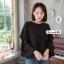 เสื้อเกาหลี คอกลม แขนระบาย3ชั้น พร้อมส่ง thumbnail 4