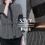 เสื้อเกาหลี พร้อมส่ง เสื้อคอกลมสูง แขนยาวห้าส่วน thumbnail 2