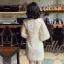 เดรสเกาหลี พร้อมส่ง เดรสปักลายดาว ลงบนผ้าตาข่าย thumbnail 5