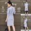 เดรสเกาหลี พร้อมส่ง เดรสเชิ๊ต แขนยาวทรงคอจีน thumbnail 14