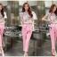 พร้อมส่ง เสื้อผ้าเกาหลี เสื้อลายดอกไม้โทนสีชมพู thumbnail 4