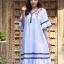 ชุดเดรสแฟชั่น พร้อมส่ง Dress ผ้าฝ้ายลายริ้ว thumbnail 4