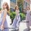 ชุดเดรสเกาหลี พร้อมส่ง Maxi dress ยาวปักลาย thumbnail 2
