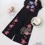 พร้อมส่ง จั๊มสูทปักลายดอกสีสดสวย thumbnail 13