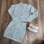 เสื้อผ้าเกาหลี พร้อมส่ง เสื้อครอปกับกระโปรงทรงสอบ thumbnail 15