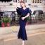 ชุดเดรสเกาหลี พร้อมส่ง ชุดเดรสผ้ายืด กระโปรงหางปลา thumbnail 10