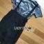 เสื้อผ้าเกาหลี พร้อมส่ง เสื้อสีเทาเข้มกับเอี๊ยมผ้าลูกไม้สีดำ thumbnail 10