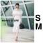 ชุดเดรสเกาหลี พร้อมส่ง เดรสแขนยาว ซีทรูที่ช่วงแขนและอก thumbnail 3