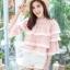 เสื้อเกาหลี พร้อมส่ง เสื้อครอป เนื้อผ้าลูกไม้ซีทรู thumbnail 1