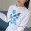 พร้อมส่ง เสื้อสไตส์เกาหลี งานปักแน่น thumbnail 5