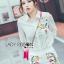 เสือผ้าเกาหลี พร้อมส่ง เสื้อเชิ้ตสีขาวและกางเกงปักลาย thumbnail 5
