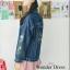 เสื้อเกาหลี พร้อมส่ง แจ๊คเก็ตยีนส์ ปักดอกไม้ thumbnail 6