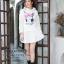 เสื้อเกาหลี พร้อมส่ง จั้มเปอร์ฮู้ด ลายกระต่าย thumbnail 16