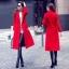 พร้อมส่ง เสื้อโค้ทสีแดงตัวยาว ดูแพง thumbnail 5