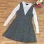 พร้อมส่ง เดรสผ้าไหมพรมงาน knit thumbnail 9
