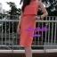 พร้อมส่ง เซทเสื้อ+กระโปรง เสื้อครอปสีส้ม มาพร้อมสร้อยคอ thumbnail 2
