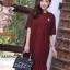 ชุดเดรสเกาหลี พร้อมส่ง Dress ผ้าจอเจียเนื้อดี thumbnail 4