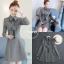 เดรสเกาหลี พร้อมส่ง เดรสทรงสวย ผ้าสำลีแบบนิ่ม thumbnail 9