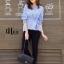 เสื้อเกาหลี แขนจั๊มพอง พร้อมส่ง thumbnail 6