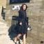 เดรสเกาหลี พร้อมส่ง Dress เดรสคอปกแขนเชิ้ต thumbnail 3