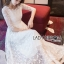 พร้อมส่ง เดรสผ้าลูกไม้สีขาวสไตล์เจ้าหญิง thumbnail 1