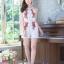 เสื้อผ้าแฟชั่นเกาหลี จั้มสูทปักดอกกุหลาบ พร้อมส่ง thumbnail 10