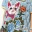 พร้อมส่ง ชุดเดรสปักรูปแมวเหมียวกับดอกไม้ thumbnail 6