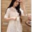 เสื้อเกาหลี พร้อมส่ง เสื้อ cotton ปักลายดอกไม้ thumbnail 5