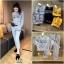 เสือผ้าแฟชั่นเกาหลี พร้อมส่ง เสื้อ+กางเกง BRAND GUCCI thumbnail 3