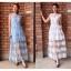 ชุดเดรสเกาหลี พร้อมส่ง Maxi dress เดรสลูกไม้ ผ้าแก้ว thumbnail 1