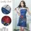 เดรสเกาหลี พร้อมส่ง เดรสยีนส์ ผ้าเดนิมสีเข้ม thumbnail 4