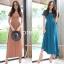 พร้อมส่ง Maxi dress ผ้ายืดผ้านุ่มนิ่ม thumbnail 1
