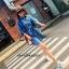 เดรสเกาหลี พร้อมส่ง Mini Dress ชุดมินิเดรสยีนส์ thumbnail 3