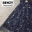 ชุดเดรสเกาหลี พร้อมส่ง dress ปักลายดอกไม้ thumbnail 7