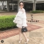 เดรสเกาหลี พร้อมส่ง JRO dress แขนยาวระบาย4 ชั้น thumbnail 1