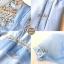 เดรสเกาหลี พร้อมส่ง เดรสสั้น สีฟ้า ลุคสวยน่ารัก thumbnail 8