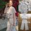 เสื้อผ้าแฟชั่นเกาหลี พร้อมส่ง เชิ้ตผ้าลูกไม้ทรงคร็อป thumbnail 7