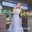 ชุดเดรสเกาหลี พร้อมส่ง Maxi dress ยาวปักลาย thumbnail 1