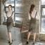 เสื้อผ้าเกาหลี พร้อมส่ง เซ็ตเสื้อ+กระโปรงเอี้ยม thumbnail 2