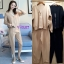เสื้อเกาหลี คอวี แต่งห่วงกับกางเกง พร้อมส่ง thumbnail 6
