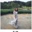 ชุดเดรสเกาหลี พร้อมส่ง เดรสยาวปาดไหล่ ลายดอกไม้ thumbnail 18