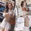 เสื้อผ้าเกาหลี พร้อมส่ง เดรสเชิ้ต + เสื้อกั๊กไหมพรม thumbnail 1